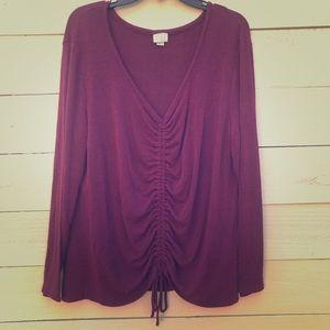A New Day wine colored sweater XL